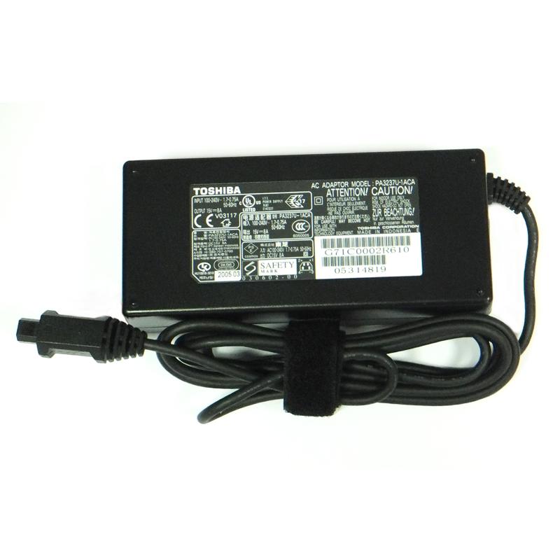 Блок питания для ноутбука TOSHIBA PA3237U-1ACA (Напряжение: 15 Вольт / Ток 8.0 Ампер / Мощность: 120 Ватт / Коннектор: 4-е контакта, трапеция)