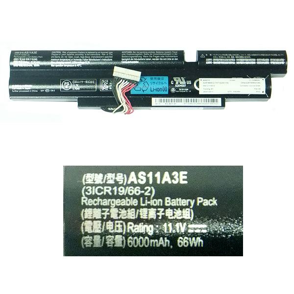 Аккумуляторная батарея ACER AS11A2E (Напряжение: 11.1 вольт / Емкость: 6000 мАч)