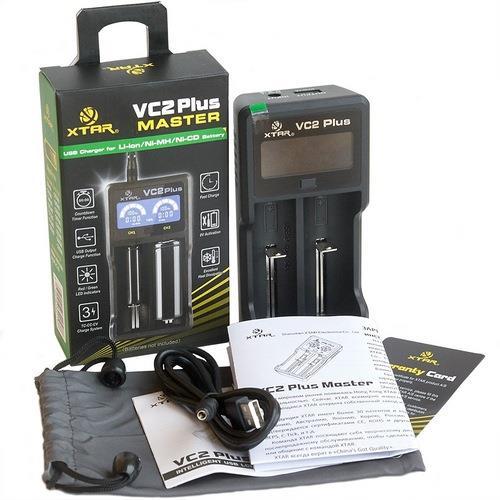 Зарядное устройство аккумуляторных элементов XTAR VC2 plus с функцией PowerBank