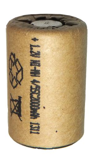 Аккумуляторный элемент NiMh 4/5 SC 1,2В 2,0 Ач (химический состав: NiMh, напряжение: 1,2 вольта, емкость: 2000 мАч, размер: SC 23 х 43 мм, оболочка: картон)